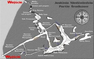 Медвежья пещера - Карта маршрута